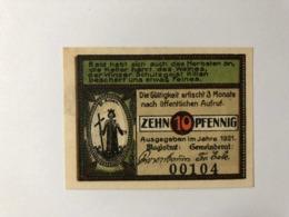 Allemagne Notgeld Langewiesen 10 Pfennig - [ 3] 1918-1933: Weimarrepubliek