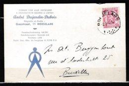 Kaart Van Roeselare F Naar Bruxelles - 1935-1949 Sellos Pequeños Del Estado