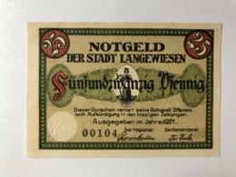 Allemagne Notgeld Langewiesen 25 Pfennig - [ 3] 1918-1933: Weimarrepubliek