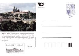 Czech Republic 1994 Postal Stationery Card: Architecture Castle Lion Eagle; PRAŽSKY HRAD  A12/94; Prague Castle UNESCO - Architecture