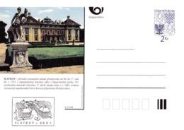 Czech Republic 1994 Postal Stationery Card: Architecture Castle Lion Eagle; SLAVKOV A13/94 - Architektur