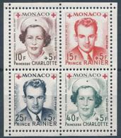 MONACO 1949 YT N°334A à 337A - Feuillet De 4 Timbres Croix Rouge Princesse Charlotte Et Prince Rainier - Neuf** TTB Etat - Monaco