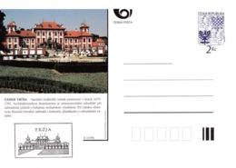 Czech Republic 1994 Postal Stationery Card: Architecture Castle Lion Eagle; ZAMEK TROJA A15/94 - Architektur