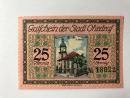 Allemagne Notgeld Ohrdruf 25 Pfennig - [ 3] 1918-1933: Weimarrepubliek