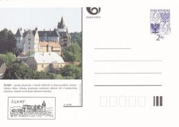 Czech Republic 1994 Postal Stationery Card: Architecture Castle Lion Eagle; ŽLEBY A16/94 - Architektur