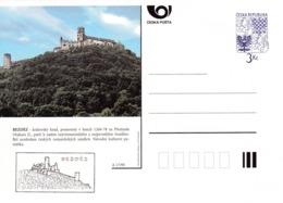 Czech Republic 1995 Postal Stationery Card: Architecture Castle Lion Eagle; BEZDEZ A17/95 - Architektur