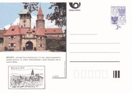 Czech Republic 1995 Postal Stationery Card: Architecture Castle Lion Eagle; BOUZOV A18/95 - Architektur