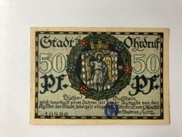 Allemagne Notgeld Ohrdruf 50 Pfennig - [ 3] 1918-1933: Weimarrepubliek