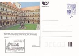 Czech Republic 1995 Postal Stationery Card: Architecture Castle Lion Eagle; BUCOVICE A19/95 - Architektur