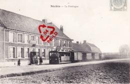 NECHIN - La Festingue - Arrêt Du Tram à Vapeur Avec 2 Estaminets - Superbe Carte Animée - Estaimpuis