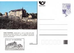 Czech Republic 1995 Postal Stationery Card: Architecture Castle Lion Eagle; CESKY STERNEBERK A20/95 - Architektur