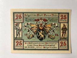 Allemagne Notgeld Plaue 25 Pfennig - [ 3] 1918-1933: Weimarrepubliek