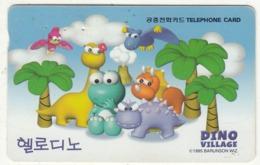 SOUTH KOREA - Dino Village(W3000), 03/99, Used - Corée Du Sud