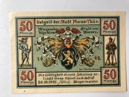 Allemagne Notgeld Plaue 50 Pfennig - [ 3] 1918-1933: Weimarrepubliek