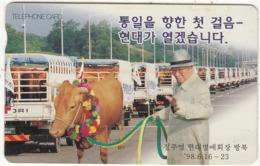 SOUTH KOREA - Man With Cow(W2000), CN : MC98D11808, Used - Corée Du Sud