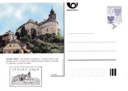 Czech Republic 1995 Postal Stationery Card: Architecture Castle Lion Eagle; JANSKY VRCH A21/95 - Architektur
