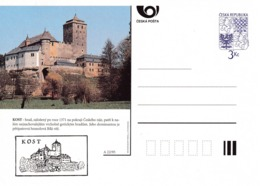 Czech Republic 1995 Postal Stationery Card: Architecture Castle Lion Eagle; KOST A22/95 - Architektur