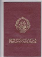 SFR YUGOSLAVIA   ---  PASSPORT  --  GENTLEMAN  --  1986 - Historische Dokumente