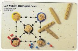 SOUTH KOREA - Four-Stick Game(reverse Letter J, W3000), 11/98, Used - Corée Du Sud