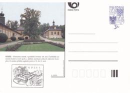 Czech Republic 1995 Postal Stationery Card: Architecture Castle Lion Eagle; KOZEL A23/95 - Architektur