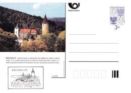 Czech Republic 1995 Postal Stationery Card: Architecture Castle Lion Eagle; KRIVOKLAT A24/95 - Architektur