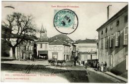 CPA Castelnau-Magnoac 65. La Place Basse, Animée, 1906 - Argeles Gazost