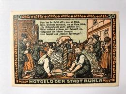 Allemagne Notgeld Ruhla 50 Pfennig - [ 3] 1918-1933: Weimarrepubliek