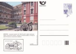 Czech Republic 1995 Postal Stationery Card: Architecture Castle Lion Eagle; OPOCNO A25/95; Cannon - Architektur