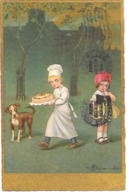 E. Colombo - Children, Enfantsa, Kinder, Chef Pâtissier, Gâteau, Chien, Pastry Chef, Cake, Dog, Konditor, Kuchen - Colombo, E.