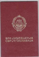 SFR YUGOSLAVIA   ---  PASSPORT  --  GENTLEMAN  --  1978 - Historische Dokumente