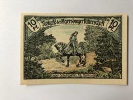 Allemagne Notgeld Ritterschaft 10 Pfennig - [ 3] 1918-1933: Weimarrepubliek