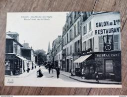 CPA 92 SCEAUX Rue Houdan Vers L'Eglise RESTAURANT Animée - Sceaux
