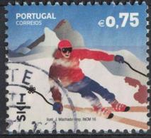 Portugal 2016 Oblitéré Rond Used Sports Extrêmes Ski 0,75 Euro SU - Oblitérés