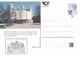 Czech Republic 1995 Postal Stationery Card: Architecture Castle Lion Eagle; ORLIK NAD VLTAVOU A26/95 - Architektur