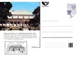 Czech Republic 1995 Postal Stationery Card: Architecture Castle Lion Eagle; PRAHA BELVEDER A27/95 - Architektur