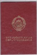 SFR YUGOSLAVIA   ---  PASSPORT  --  GENTLEMAN  --  1983 - Historische Dokumente