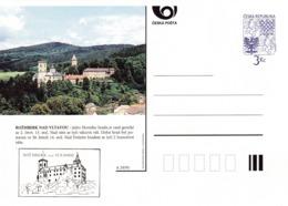 Czech Republic 1995 Postal Stationery Card: Architecture Castle Lion Eagle; ROZMBERK NAD VLTAVOU A29/95 - Architektur