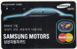 SOUTH KOREA - Samsung Motors Master Card(W2000), 09/97, Used - Corée Du Sud