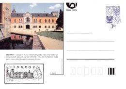 Czech Republic 1995 Postal Stationery Card: Architecture Castle Lion Eagle; SYCHROV A30/95 - Architektur