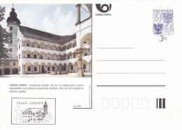 Czech Republic 1995 Postal Stationery Card: Architecture Castle Lion Eagle; VELKE LOSINY  A31/95 - Architektur