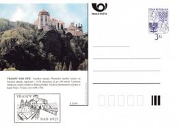 Czech Republic 1995 Postal Stationery Card: Architecture Castle Lion Eagle; VRANOV NAD DYJI  A32/95 - Architektur