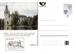 Czech Republic 1996 Postal Stationery Card: Architecture Castle Lion Eagle; BLATNA  A33/96 - Architektur