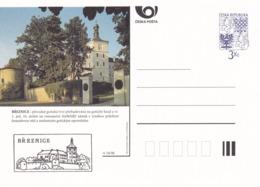 Czech Republic 1996 Postal Stationery Card: Architecture Castle Lion Eagle; BREZNICE  A34/96 - Architektur