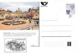 Czech Republic 1996 Postal Stationery Card: Architecture Castle Lion Eagle; BUCHLOVICE  A35/96 - Architektur