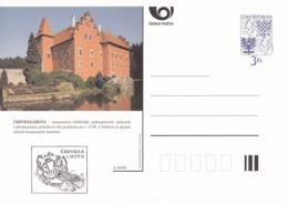 Czech Republic 1996 Postal Stationery Card: Architecture Castle Lion Eagle; CERVENA LHOTA  A36/96 - Architektur