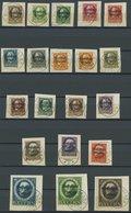 BAYERN 116-35IIA BrfStk, 1919, Volksstaat, Gezähnt, Auf Briefstücken, Prachtsatz, Markwerte Gepr. Infla, Mi. (170.-) - Beieren