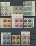 BAYERN 136-151B VB **, 1919, Freistaat Auf Dt. Reich, Gezähnt B, In Viererblocks, Meist Aus Der Bogenecke, Postfrischer  - Beieren