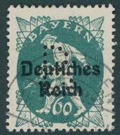 BAYERN Pf 23 O, 1920, 60 Pf. Dunkelblaugrün, Gelocht B, Pracht, Gepr. Dr. Helbig Und Infla, Mi. 350.- - Beieren