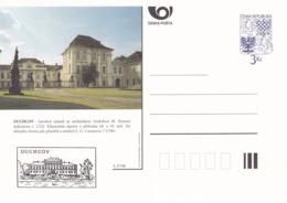 Czech Republic 1996 Postal Stationery Card: Architecture Castle Lion Eagle; DUCHCOV  A37/96 - Architektur