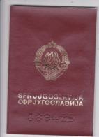 SFR YUGOSLAVIA   ---  PASSPORT  --  GENTLEMAN  --   WAR PERIOD  --  1991  / CROATIAN RUBBER STAMP / - Historische Dokumente